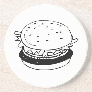Hamburger Sandwich Drink Coasters