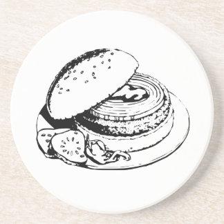 Hamburger Sandwich Beverage Coasters