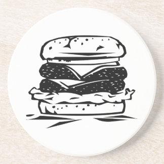 Hamburger Sandwich Drink Coaster