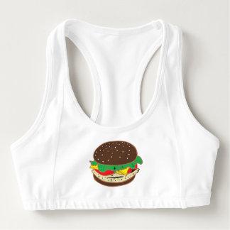 hamburger sandwich lunch food dining sports bra