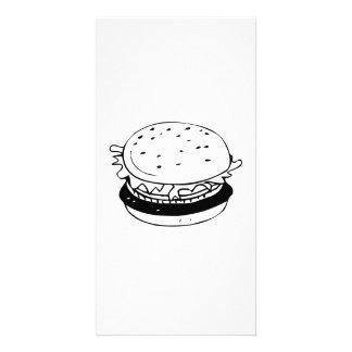 Hamburger Sandwich Picture Card
