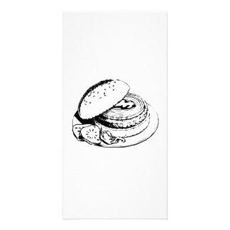 Hamburger Sandwich Photo Card