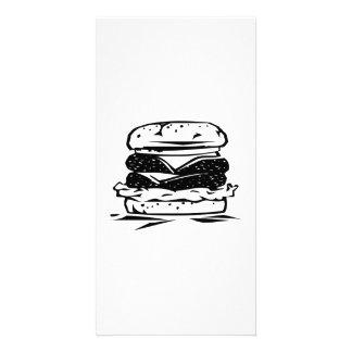 Hamburger Sandwich Personalized Photo Card