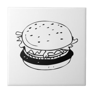 Hamburger Sandwich Tile