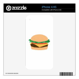 Hamburger iPhone 4 Decals
