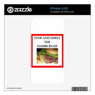 HAMBURGER iPhone 4 SKINS