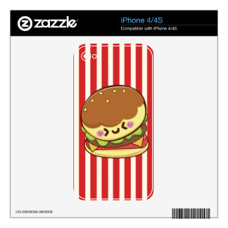 Hamburger Decal For iPhone 4