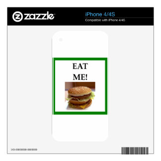 hamburger skin for iPhone 4