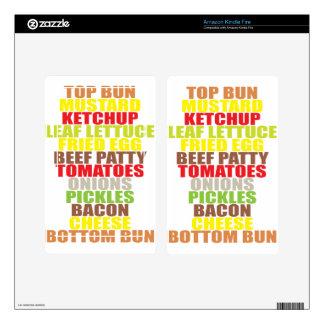 Hamburger Skin For Kindle Fire