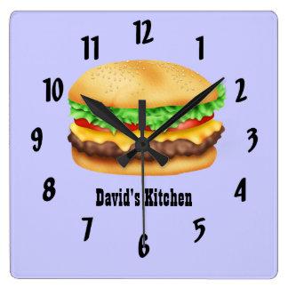Hamburger Square Wall Clock