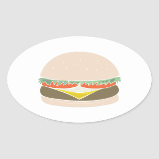 Hamburger Oval Sticker