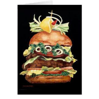 Hamburger Still Life by Laurie Mitchell Card