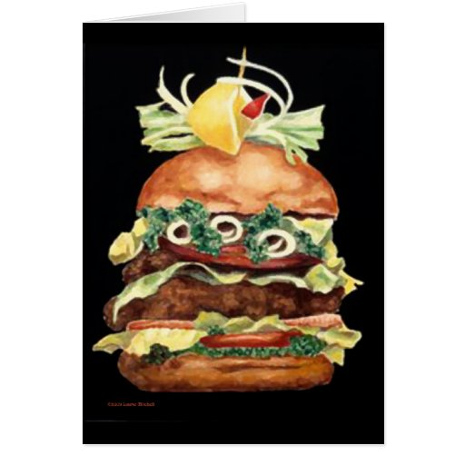 Hamburger Still Life by Laurie Mitchell Greeting Card