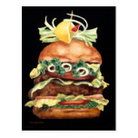 Hamburger Still Life by Laurie Mitchell Postcard