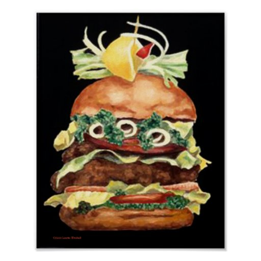 Hamburger Still Life by Laurie Mitchell Print