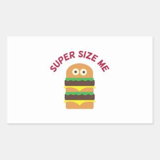 Hamburger_Super Size Me Rectangle Sticker