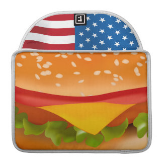 hamburger USA Sleeve For MacBooks