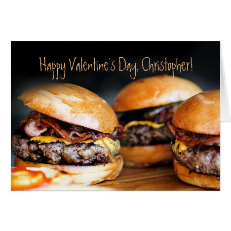 Hamburger Valentines Day Card for HIM,