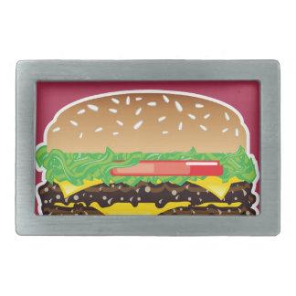 Hamburger Vector Art Belt Buckle