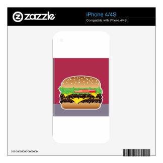 Hamburger Vector Art Decal For The iPhone 4S