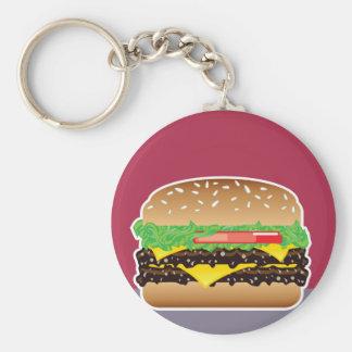 Hamburger Vector Art Keychain
