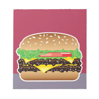 Hamburger Vector Art Notepad