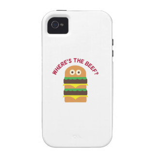 Hamburger_Wheres The Beef iPhone 4/4S Covers