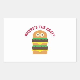 Hamburger_Wheres The Beef Rectangular Sticker