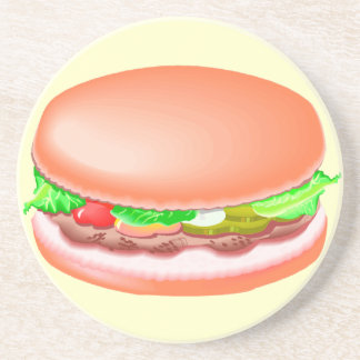 Hamburger with all the fixin's coaster