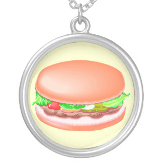 Hamburger with all the fixin's pendant