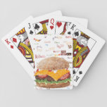 "Hamburger with Cheese Fast Food BBQ Diner Playing Cards<br><div class=""desc"">Hamburger with cheese,  Ketchup,  Mayo,  Lettuce,  Tomatoes and Guacamole.</div>"