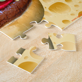 Hamburger with Swiss Cheese Jigsaw Puzzle