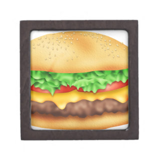 Hamburger with the lot! jewelry box