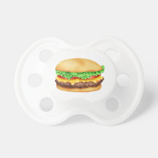 Hamburger with the lot baby pacifiers