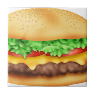 Hamburger with the lot! tile