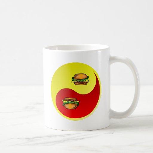 Hamburger Yin Yang Classic White Coffee Mug