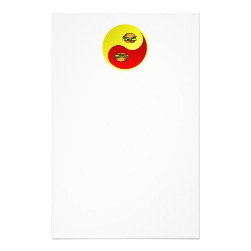 Hamburger Yin Yang Personalized Stationery