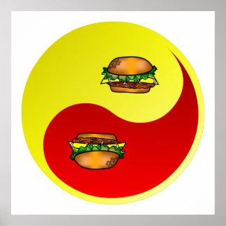 Hamburger Yin Yang Poster