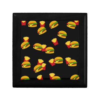 Hamburgers and french fries pattern jewelry box