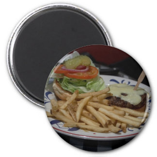 Hamburgers And Fries 2 Inch Round Magnet