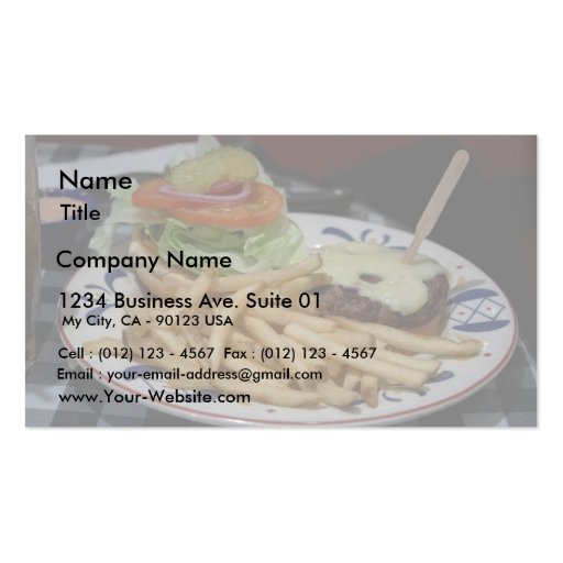 Hamburgers And Fries Business Card Templates
