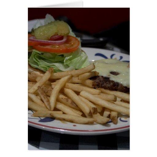 Hamburgers And Fries Greeting Card