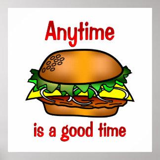 Hamburgers Anytime Poster