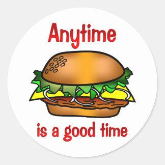 Hamburgers Anytime Stickers