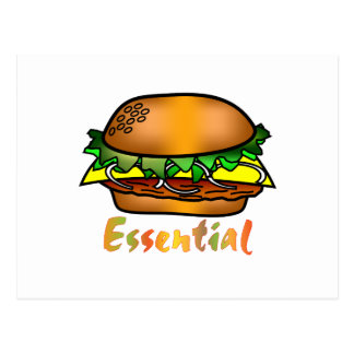 Hamburgers are Essential Postcard