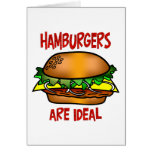 Hamburgers are Ideal Greeting Cards