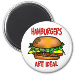 Hamburgers are Ideal Refrigerator Magnet