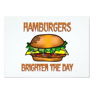 Hamburgers Brighten the Day Custom Invitations