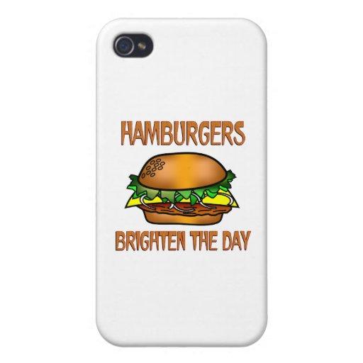 Hamburgers Brighten the Day iPhone 4 Cases