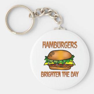 Hamburgers Brighten the Day Key Chains